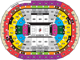 Portland Trail Blazers Seating Chart With Rows Best