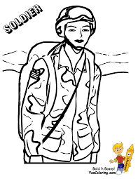 Noble Army Coloring Picture Uniform Female Ier Solider Military At