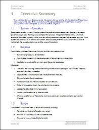 Executive Summary Template Word Under Fontanacountryinn Com