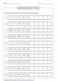 Number Patterns Adorable Here's A Site With A Wealth Of Number Pattern Pages Number
