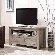 tv stands with soundbar space. Walker Edison Contemporary Driftwood TV Stand 44 In Beige Living Room Decor With Tv Stands Soundbar Space