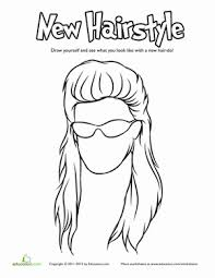 Hair Coloring Pages Educationcom