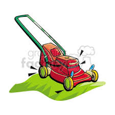 lawnmower clipart. red push style lawn mower lawnmower clipart