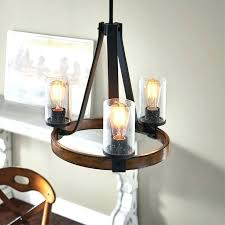 kichler fans distressed black and wood rustic clear glass candle chandelier at the collection offers