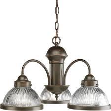 progress lighting 3 light antique bronze chandelier