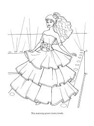 Coloring Pages Fashion M7909 Barbie Coloring Pages Fashion Barbie