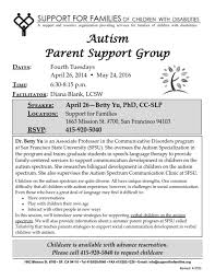 support groups autism society san francisco bay area they offer a autism parent support group
