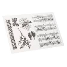 music note stamp lovely music notes silicone clear stamp seal diy scrapbooking note