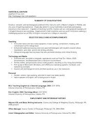 Teacher Assistant Resume With No Experience Sample Teacher Resume No