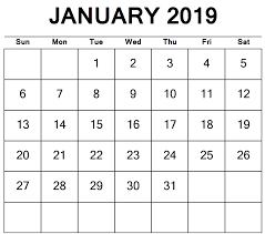 Blank Calendar Excel Blank January 2019 Calendar Excel Free Printable Calendar