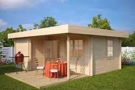 3 room log cabin garden guesthouse oscar 21m2 70mm 5 x 6 m