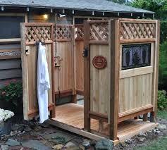 showers outdoor shower enclosure ideas outdoor shower enclosure ideas with redwood and cedar outdoor shower