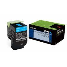 Lexmark 80c1xc0 801xc Oem Toner Cartridge For Cx510 Cyan 4k