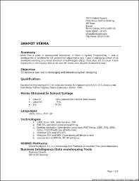 Types Of Resumes Samples Type Of Resumes Different Resume Formats
