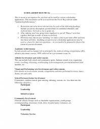 Scholarship Resume Template Google Docs Student Samples College
