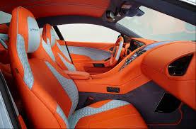 aston martin Vanguish q 5 orange and grey and black interior custom