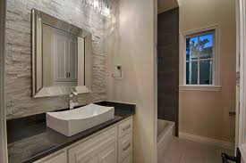 Contemporary Full Bathroom with Simple Granite, Absolute Black Granite  Countertop, Stonemark Granite, specialty