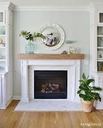diy wood beam mantel fireplace refacingfireplace makeoverstile