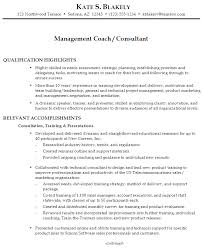 Sample Resume Management Coach Consultant ...