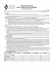 Standard Lease Agreement California Fresh Residential Lease ...