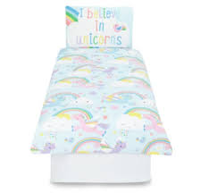 this is the unicorns rainbows bedding set which is part of the unicorn bedroom collection which is brand new at asda the duvet cover is available from