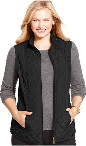 Charter Club Plus Size Reversible Quilted Vest | Where to buy ... & ... Black Quilted Vests Charter Club Plus Size Reversible Quilted Vest ... Adamdwight.com