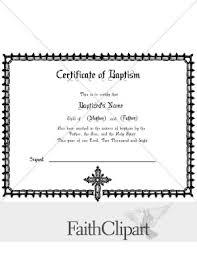 Baptism Certificate Formal Baptism Certificate Hidden