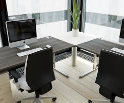 home office images modern. Brilliant Modern Office Desk For The Corner With White Document Cabinets And Stylish Chairs Home Images P