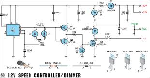 12v speed controller dimmer circuit diagram 12v speed controller or lamp dimmer circuit diagram