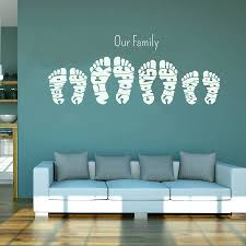 create your own wall decals quotes personalised footprint wall art stickers by name art personalised footprint on create your own wall art with create your own wall decals quotes personalised footprint wall art