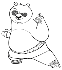 Small Picture Coloring Page Kung Fu Panda Pages Printable For Kids Of Tigress To