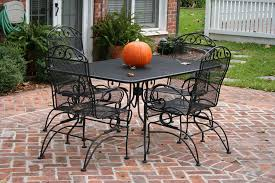 image of wrought iron patio furniture dining table