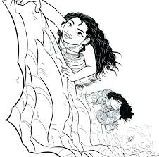 Coloring Sheet Moana Baby Moana Coloring Pages Pdf Coloring For
