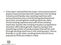 Vending Machine Research Paper Awesome India Vending Machines Market Demand Trends YouTube
