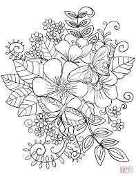 Free flower template to colour, download free clip art, free clip. Butterflies Flowers Coloring Page Free Printable Floral Pages Sheets Flower Tures Color Mandala Bouquet Of Pictures To Colouring Pattern Oguchionyewu