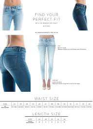Size Chart Womens Bottoms Fit Guide Denham The