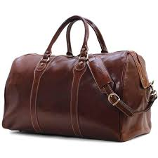 details about floto milano vo brown leather duffle bag