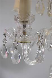 vintage cut glass crystal chandelier with five arms