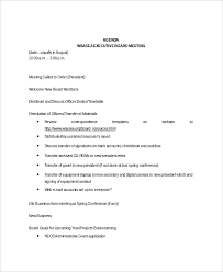 Sample Agendas For Board Meetings Sample Board Meeting Agenda Rome Fontanacountryinn Com