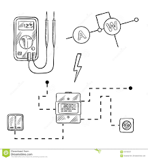 wiring diagram icons wiring image wiring diagram voltmeter electricity meter and electrical circuit sketch stock on wiring diagram icons