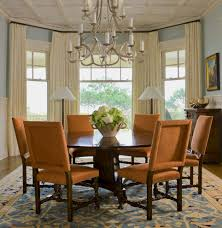 Amazing Dining Room Curtain Ideas Com Trends And Drapery Images Bay Window