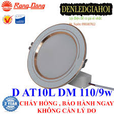 Đèn led âm trần 9W Rạng Đông đổi 3 màu và không đổi màu, mã D AT10L 110/9w