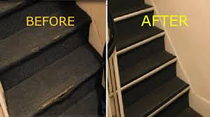 Removing Stair Carpet How To Repair Damaged Carpet On Stairs Nosing Strip Youtube