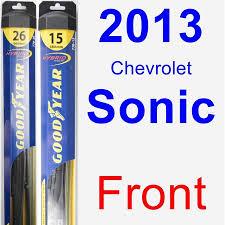 2013 Chevrolet Sonic Wiper Blade Set Kit Front 2 Blades Hybrid