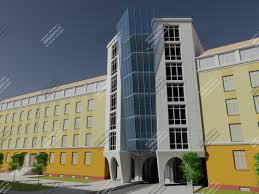 Скачать дипломный проект Общественное и этажное здание диплом   3d визуализация 3d визуализация