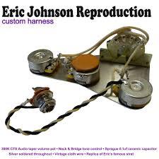 eric johnsonstratocaster strat wiring kit hand built in the uk image 1