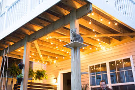 Hanging Patio Lights On Deck How To Hang Globe String Lights Under A Deck Hang Patio
