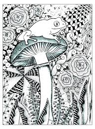 Trippy Mushroom Coloring Pages Nip Laceaorg