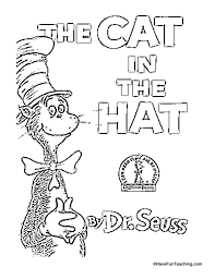 Small Picture Cat in the Hat Coloring Page Have Fun Teaching