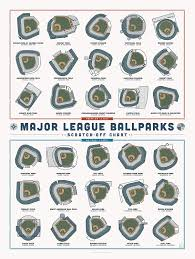 Major League Ballparks Scratch Off Chart Amazon Co Uk